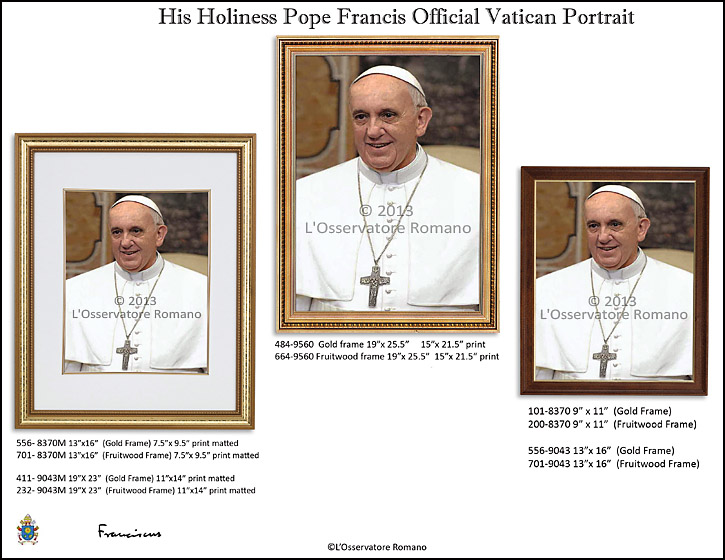 Pope Francis Official Photo Portait from Vatican
